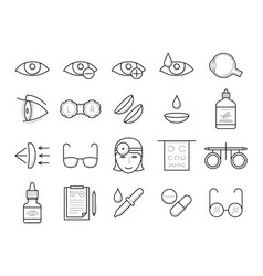 eyesight medical diagnostic vision correction vector image
