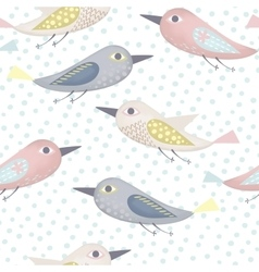 Fantastic birds pattern vector image