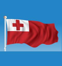 Flag of tonga vector