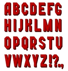 Font chopped red vector image vector image