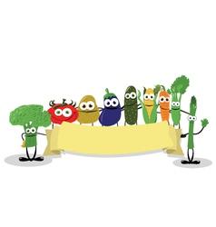 Funny Veggies Banner vector image vector image