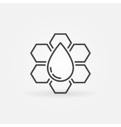 Honeycomb outline icon vector image vector image