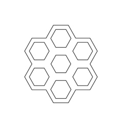 Honeycomb pattern icon outline style vector