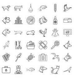 hospital icons set outline style vector image