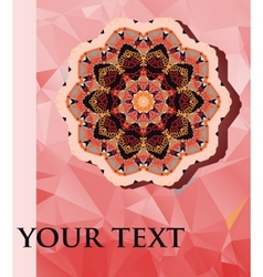 Mandala design with lot of copyspace vector image vector image