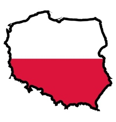 Map in colors of Poland vector image