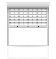 Metal perforated rolling shutters 02 vector