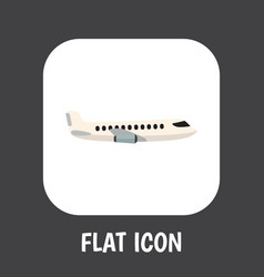 of car symbol on plane flat vector image vector image