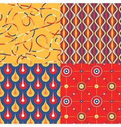 pattern set pop vector image vector image