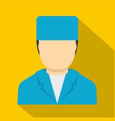 Plastic surgeon icon flat style vector