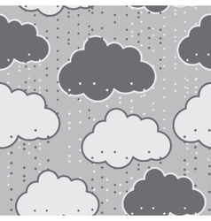 Rain clouds seamless background abstract vector image vector image