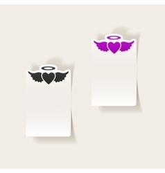 realistic design element heart angel vector image