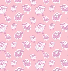 Seamless pattern with sheep vector