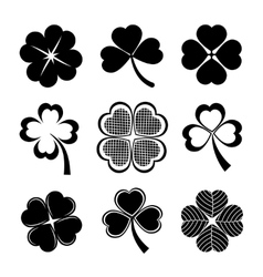 Shamrock and four leaf clover vector