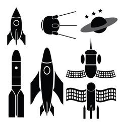 Space ships vector