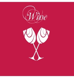 sparkling wineglasses with wine vector image