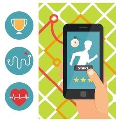 Sport fitness application Running app vector image vector image