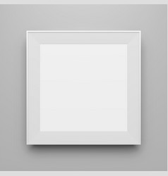 Square white frame template for picture vector