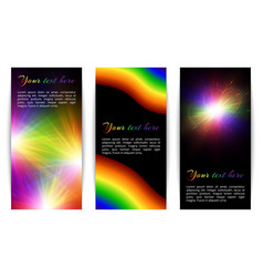 Vertical banners with bright hearts vector