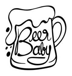 Word expressions for beer baby vector