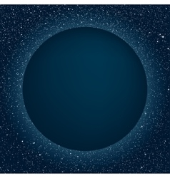 Starry Night Sky Planet Blue Circle Stars vector image