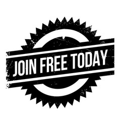 join free today rubber stamp vector image