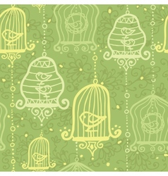 Birds in cages seamless pattern background vector