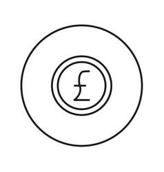 money sign coin pound vector image