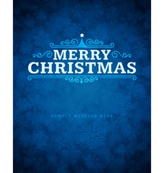 Merry christmas message and ornament vector