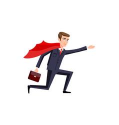 Super businessman men cartoon vector
