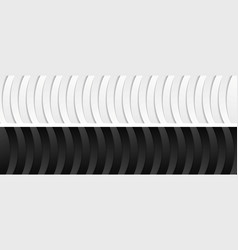 Abstract corporate black and white wavy banners vector