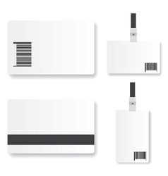 Blank id card vector