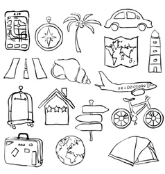 Travel sketch images vector