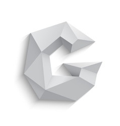 3d letter g on white vector