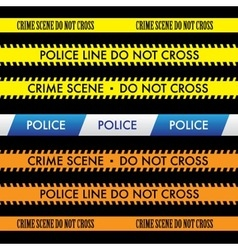 Police line do not cross tape design vector
