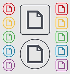 Edit document sign icon content button symbols on vector