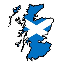 Map in colors of scotland vector