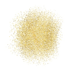 Gold sparkles on white background vector image
