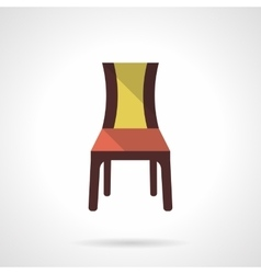 Furniture for restaurant flat color icon vector