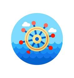 Helm icon summer marine vector
