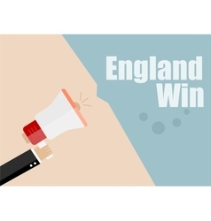 England win flat design business vector