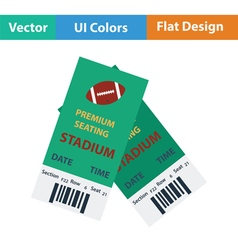 American football tickets icon vector