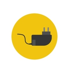 Power cable icon vector
