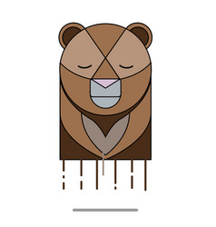 bear head sad vector image vector image