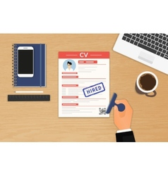 Businessman accepted CV vector image
