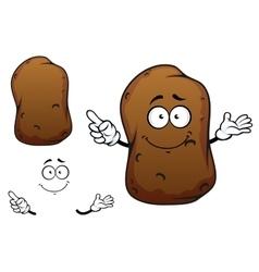 Cartoon brown potato vegetable character vector
