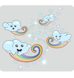 cloud cartoons vector image