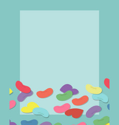 Colorful candy with frame of copyspace vector