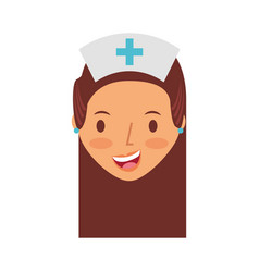 cute nurse avatar character vector image vector image
