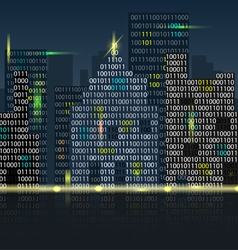 digital city vector image vector image